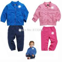 L Free shipment Tv182  stand collar male female child casual set long-sleeve set moq 1set