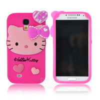 Fashional new arrival cute cartoon model silicon material Hello kitty shape cover Case for Samsung Galaxy S4 i9500