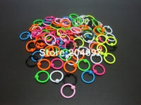 100pcs 1.2*8*3mm New Arrival Neon Colors Stainless Steel Captive Bead Ring BCR Piercing Body Jewelry Wholesale Free Shipping