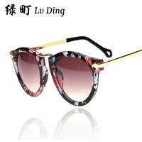 Wholesale fashion sunglasses arrow round sunglasses star models retro suit with round sunglasses