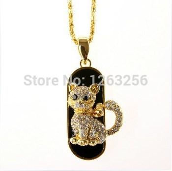 Ювелирные изделия мини кошка usb Флэш-накопитель ожерелье 8 ГБ 16 ГБ 32 ГБ ручка ...