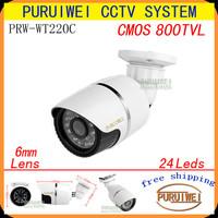 "100% Original 1/4""CMOS 800TVL 24hours Day/night monitoring Waterproof CCTV camera with Axis bracket.free shipping"