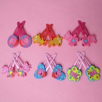 Peppa pig Cute hairpin and hair band girls hair accessories  pink pig  Apparel Accessories Headwear