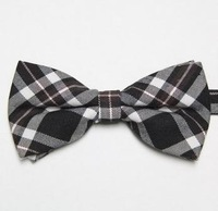 plaid cotton men's bow tie neckties black ties for men