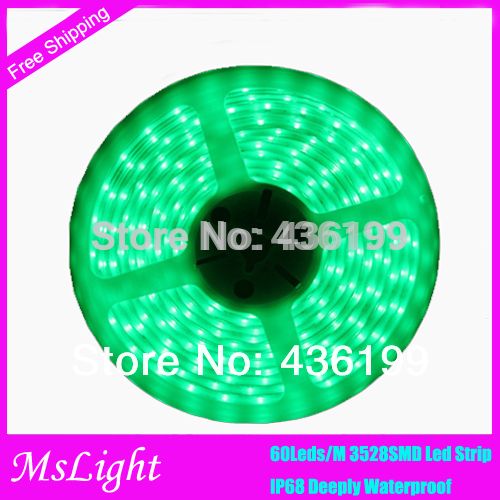 IP68 Fully Submersible Waterproof LED Flexible Strip with SMD3528 5m Reel for Swimming pool Fish Tank Refrigerator Lighting(China (Mainland))