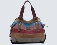 Promotion 2014 New Women Canvas Patchwork Casual Fashion Messenger Bag Daily Shoulder Bag k988-3, Free Shipping
