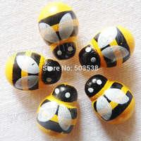 1000PCS/LOT,Wood mini yellow bee stickers,Fly fridge sticker,3D wall stickers.Classroom ornament,Wood crafts.13x9mm,onstock