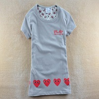 2014 spring women's Korean version cartoon small eye 100% cotton o-neck short-sleeve T-shirt 4 colors SZB-1013