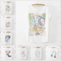 [Magic] 73 newest models!Batwing sleeve plus size women cotton t shirt good printed tees thin loose t shirts women free shipping