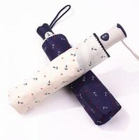 2014 free shipping fashion the anchor pattern umbrella automatic men's women's travel umbrella Rechar024