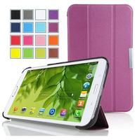100pcs/lot For Samsung Galaxy Tab 4 7.0 T230  Magnet Smart Leather Case For Samsung Galaxy Tab 4 7.0 T230 3 Fold Smart cover