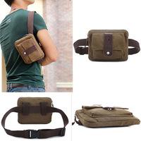 New 2014 Vintage Canvas Waist Bag For Running Casual Man Belt Bags Men Messenger Bags Men's Travel Bags
