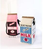 Wholesale+Retail 1pcs New Grils makeup Shoulder bags Milk Clutches milk totebag vintage small Canvas bags handbag for girls