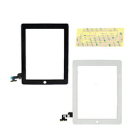 3pcs New Touch Panel Glass Digitizer Screen Repair Parts+Home Button +Tools +3M Sticks for Tablet PC iPad 2 2nd Gen Black /White