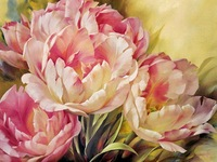 2014 New Peony Painting flowers pink diamonds adornment series,hang a picture diamond embroidery cross-stitch embroidered grass