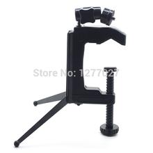 Photo Studio Travel Portable C-Clamp Desktop Tripod Swivel Camera Stand Tripod Table for Camera Camcorder and DSLR & SLR Egae