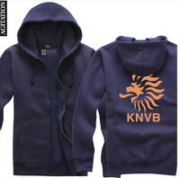 Agitation 2014 cardigan thickening sweatshirt zipper male women's Sports kingdom of Dutch football association plus size S-XXXL