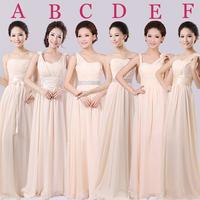 Evening Dress 2014 Floor Length Dress Formal Evening Long Design Champagne Chiffon Evening dress, drop-shipping, factory price
