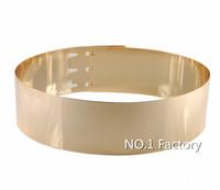 2014 New High-end women brand golden girdle waistband Slim belt girdle ladies' Decorative Metal Mirror Sequins Belt female