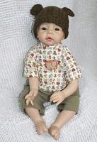 Free shipping TOP QUALITY 55cm boy reborn baby doll same quality as adora baby doll for kids' gift bjd doll DIY doll