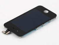 2PCS/Lot New LCD Display Screen Digitizer Touch Panel w/ Frame Assembly +Home Button +Tools Adhesive for iPhone 4 4G GSM/ CDMA
