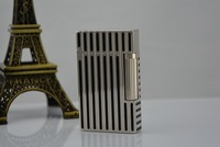 S.T Memorial Dupont lighter Bright Sound! New In Box Silver Serial number C117