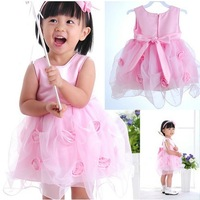 2014 small princess dress full moon baby girls' princess dress rose princess dress
