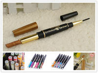 12 pcs/lot pigments polymers long lasting waterproof eye shadow eyeliner 2in 1