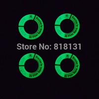 HOT!peugeot 206 207 301 307 308 3008 408 508 Car Ignition Switch luminous aluminum alloy cover keyhole  sticker