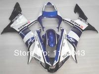 Injection mold+ Blue white black fairings for Yamaha YZF 1000 R1 02 03 YZF-R1 02-03 YZF R1 02 03 YZF R1 2002 2003 #1V2VX fairing