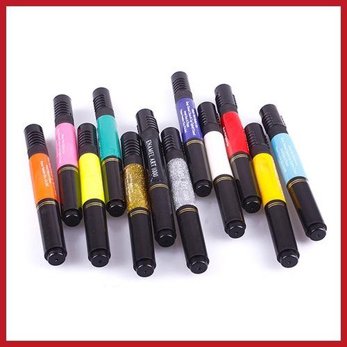 original barnd dealplus 1PCS Solid DIY 2-way Nail Art Polish Dotted Pen Varnish Drawing Pen Save up to 50% New Design(China (Mainland))