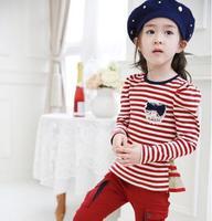 1 Set Retail 2014 New 100% cotton kids clothing set, clothes + Pant, children Set, 2 Colors Available F30-03
