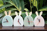 Belt rabbit ceramic clock fancy zakka