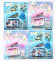 Romance Frozen Stationery Set mini-book staples  learn Stationery Tape Dispenser Kit Promotion Gifts