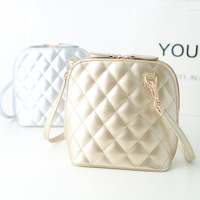 2014 cross-body shoulder bag female bag small mini japanned leather plaid bucket shell women's handbag
