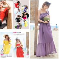 Summer dress 2014 Condole belt dresses Bohemian beach dress that wipe a bosom high-end chiffon dress casual dress 8 colors