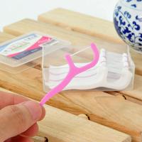 30pcs/box toothpicks plastic,dental flosser stick toothpick dental floss Oral Care Reduce Tooth Teeth Health Plaque Clean Debris