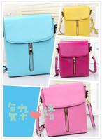 2014 women's fashion handbag trend candy color vintage bucket bag messenger bag small bag