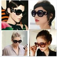 Spoondrifts 2014 butterfly baroque ruslana korshunova fashion round glasses sunglasses women's vintage sunglasses free shipping