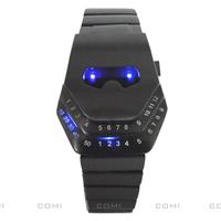 Snake head led wrist watch timer with blue led light