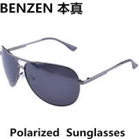 2014 Men Sunglasses Polarized  Sun Glasses Classic Aviator Metal Driving Glasses Oculos With Case Black 2059A