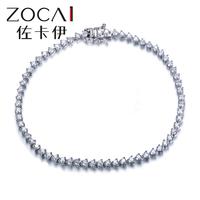 ZOCAI 2014 New Arriva 1.8  ct natural genuine diamond 18K white gold bracelet fine jewelry