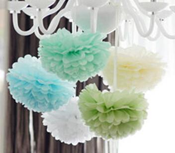 15cm=6 inch Tissue Paper Flowers paper pom poms balls lanterns Party Decor Craft Wedding multi color option whcn+(China (Mainland))
