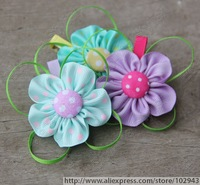 Free shipping 150pcs/lot,2-3 inch Baby Girl Hair bow with clips hair accessories,Flower Bow boutique summer hair clips 5052