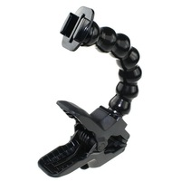 Adjustable Flexible Arm Flex Jaws Clamp Snake Universal Mount Go pro Interface fully adjustable bent neck For gopro HD 3+/3/2/1