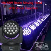4piece Free Shipping RGBW 19x12W Zoom Moving Head Beam Lighting