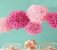 20cm=8 inch Tissue Paper Flowers paper pom poms balls lantern Party Decor Craft  Wedding  multi color option whcn+