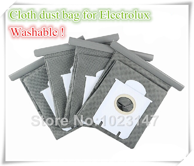 Free Shipping to Europe ! 2 pieces Vacuum Cleaner Bag Washable Dust Bag for Electrolux ZUS3300 Ultra One Oxygen E200 etc.(China (Mainland))