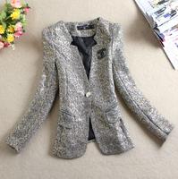 Free shipping 2014 new spring autumn slim blazer plus size clothing female blazer hot sale fashion blazer women 's outerwear