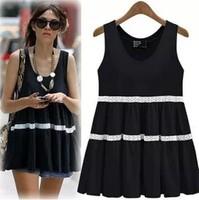 T shirt women European style top women black and white color L-4XL plus size summer new t shirt women loose cotton vest woman